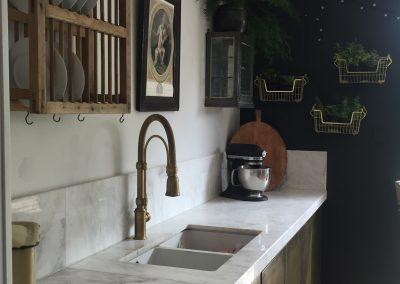 brass kitchen
